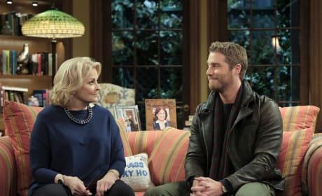 Murphy and Avery Talking at Home - Murphy Brown Season 1 Episode 1