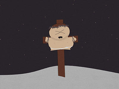 Cartman on the Crucifix