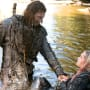 Roan and Clarke In The River - The 100 Season 3 Episode 2