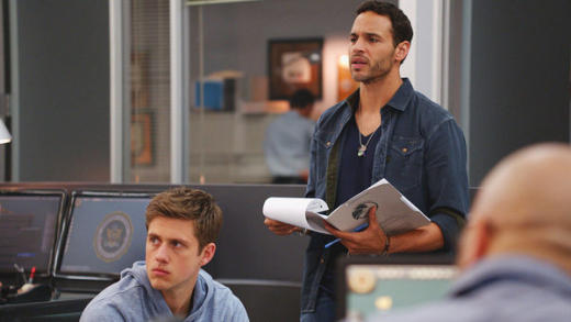 Aaron Tveit and Daniel Sunjata on Graceland