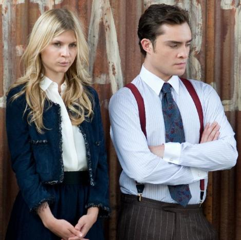 Ed Westwick and Clemence Poesy