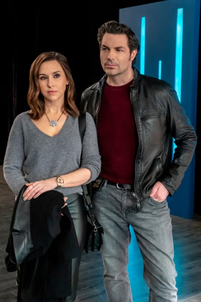 Lacey Chabert and Brennan Elliott for Crossword Mysteries