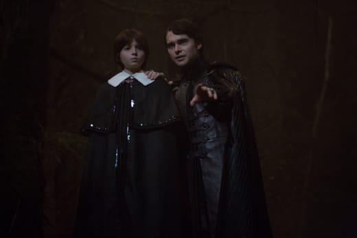 The dark lord and Sebastian - Salem Season 3 Episode 1
