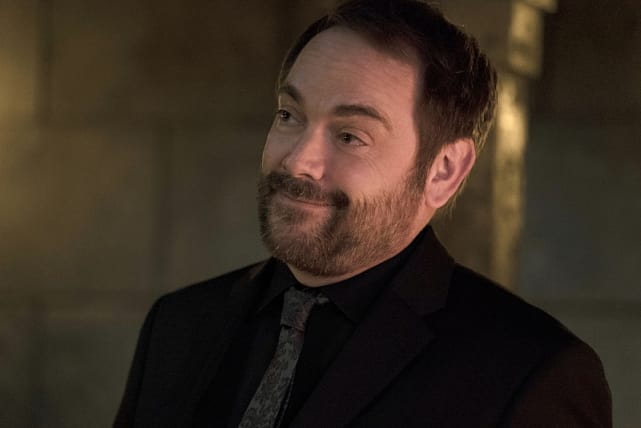 A smirk from the king of hell - Supernatural Season 11 Episode 10
