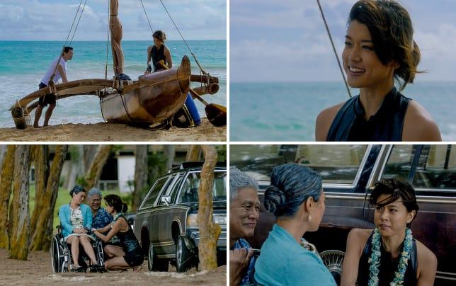 Kono and chin on the beach hawaii five 0
