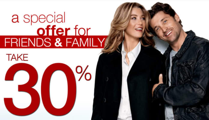 Share The Love Save Some Money With Ellen Pompeo And Patrick