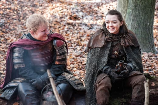 Ed Sheeran a Gift for Maisie - Game of Thrones Season 7 Episode 1