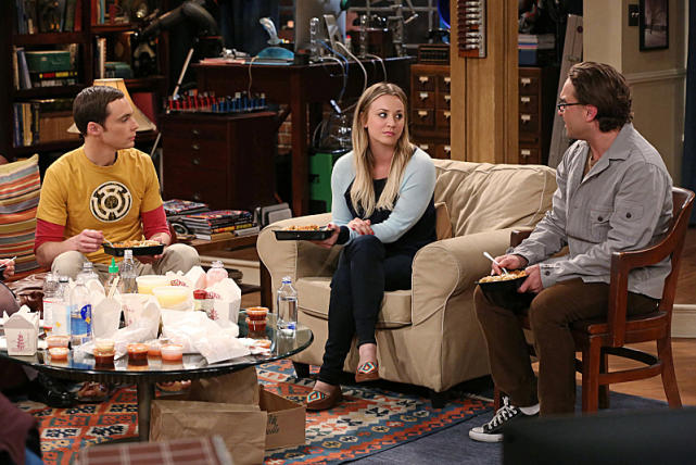 Jim Parsons, Kaley Cuoco and Johnny Galecki
