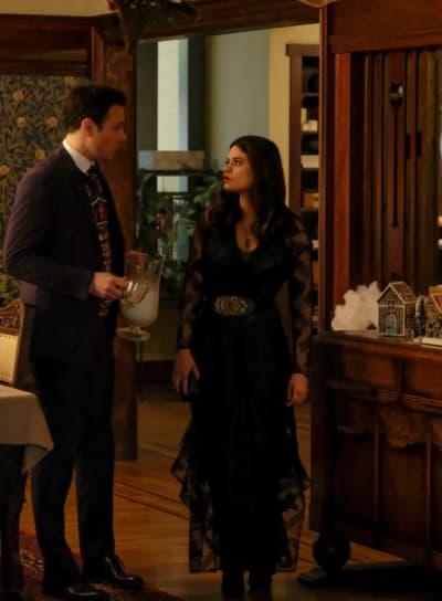 "Harry and Mel, Charmed Season 1 Episode 9 ""Jingle Hell"" - Charmed (2018)"