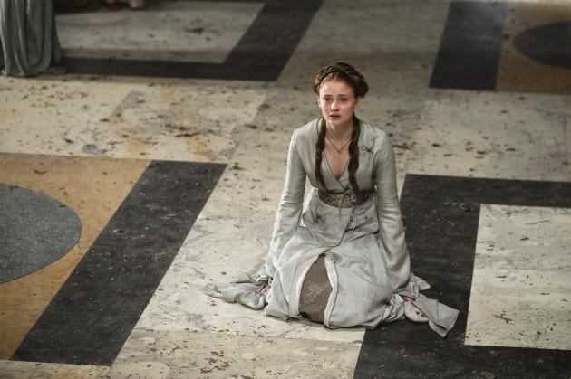 Sansa on Her Knees