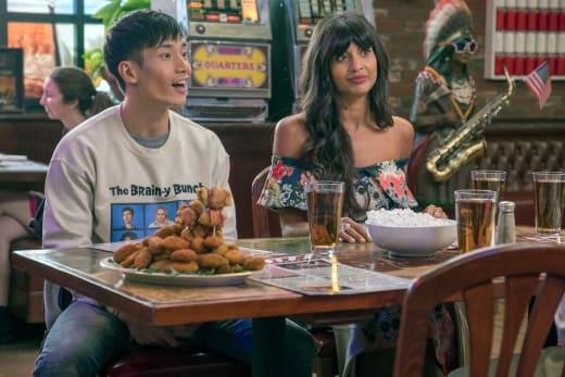 Jason and Tahani - The Good Place Season 3 Episode 3