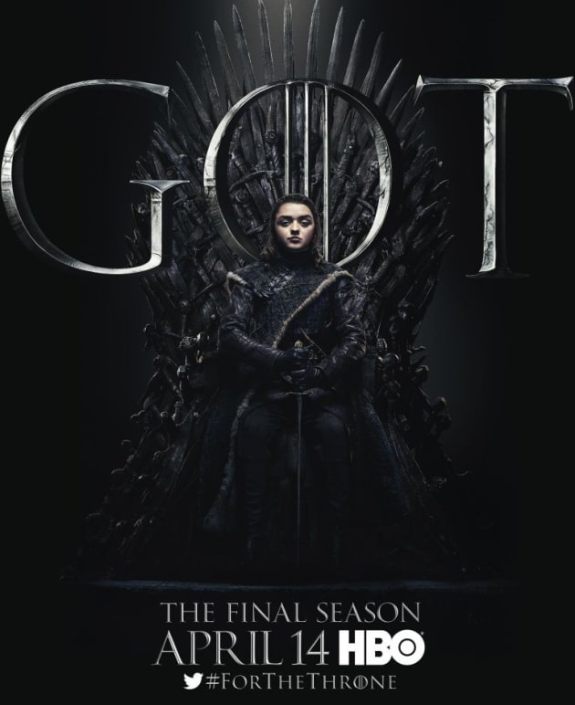 arya on the iron throne game of thrones tv fanatic