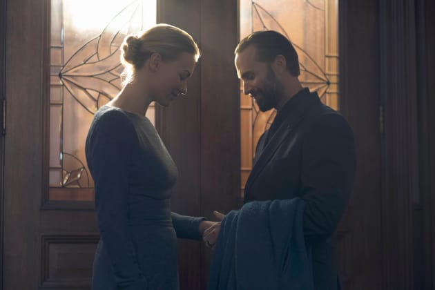 Comforting His Wife - The Handmaid's Tale Season 1 Episode 8
