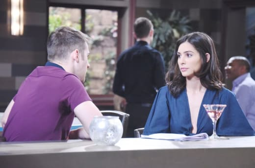 Gabi Confides in JJ - Days of Our Lives