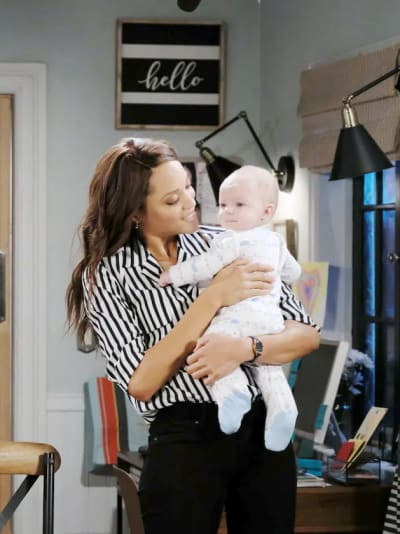 Bonding With Baby David - Days of Our Lives