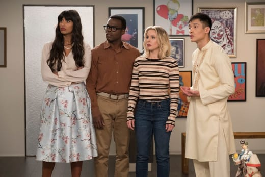 The Whole Gang - The Good Place Season 2 Episode 2
