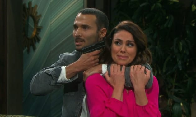 Chloe's Held at Gunpoint - Days of Our Lives