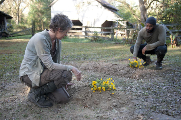 Melissa McBride and Chad Coleman in The Walking Dead