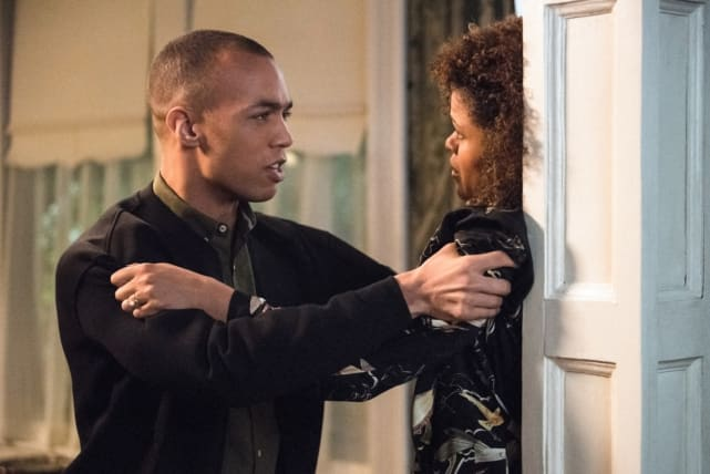 Max grabs his mother - Supernatural Season 12 Episode 20