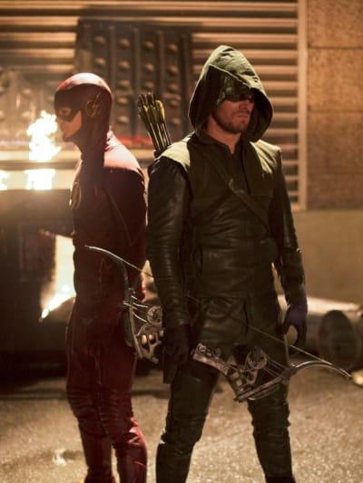 Barry & Oliver - The Flash Season 1 Episode 8