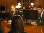 Booth and Brennan Question Students - Bones