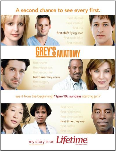 Grey's Anatomy Lifetime Poster