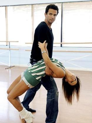 Ashley Hamilton and Edyta Sliwinska
