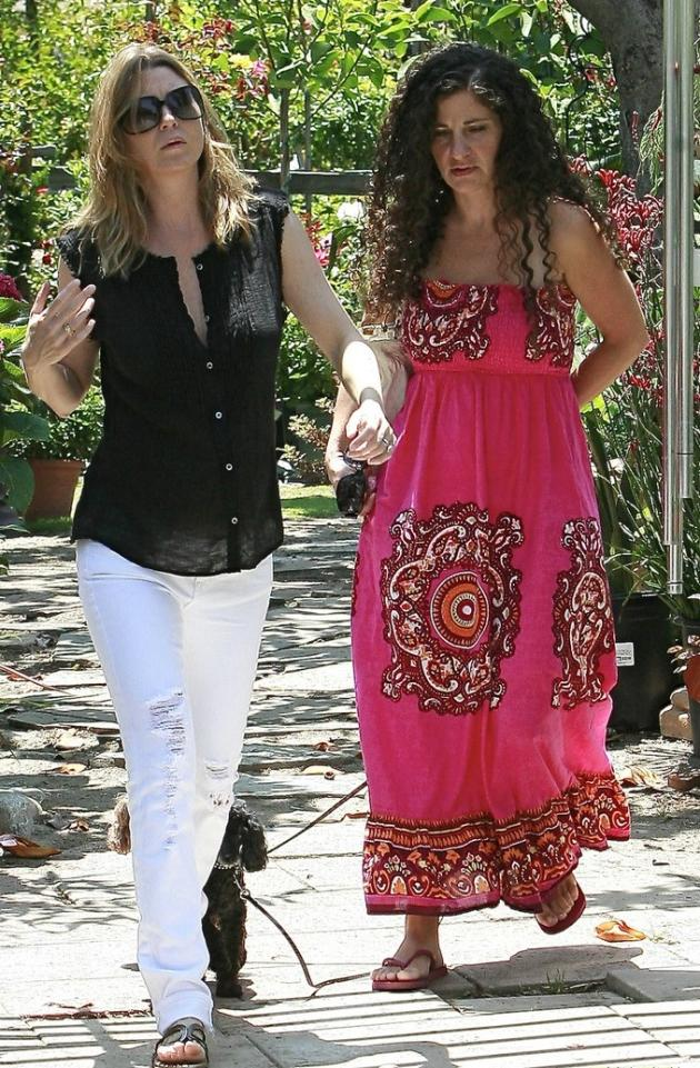 Ellen Pompeo and a Friend