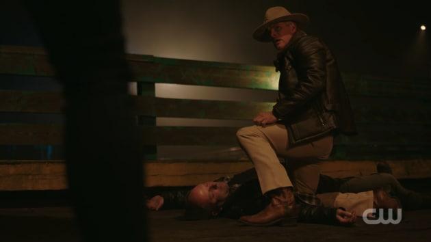 Svenson as the Black Hood - Riverdale