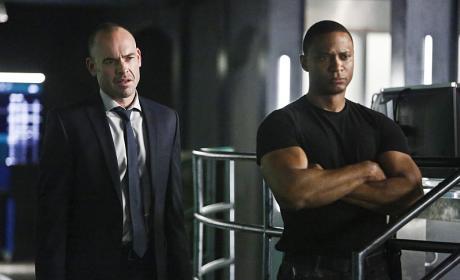 Lance and Diggle - Arrow Season 4 Episode 15