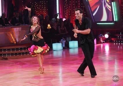 Cristian de la Fuente and Cheryl Burke