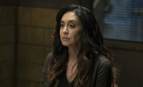 Samar sits alone - The Blacklist Season 4 Episode 18