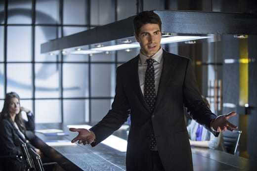 Controlling the Meeting - Arrow Season 3 Episode 1