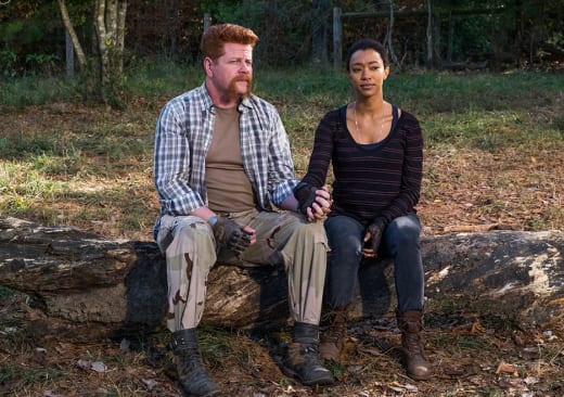 Abraham and Sasha - The Walking Dead Season 7 Episode 16