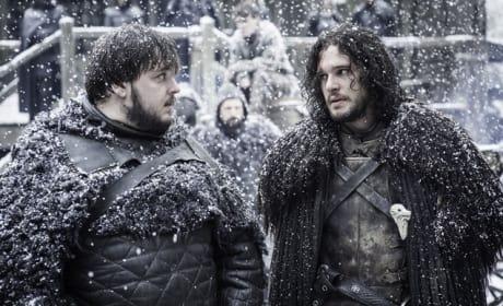 Sam's Happy to See Jon - Game of Thrones Season 5 Episode 9