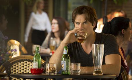 Drinking Damon - The Vampire Diaries Season 7 Episode 1