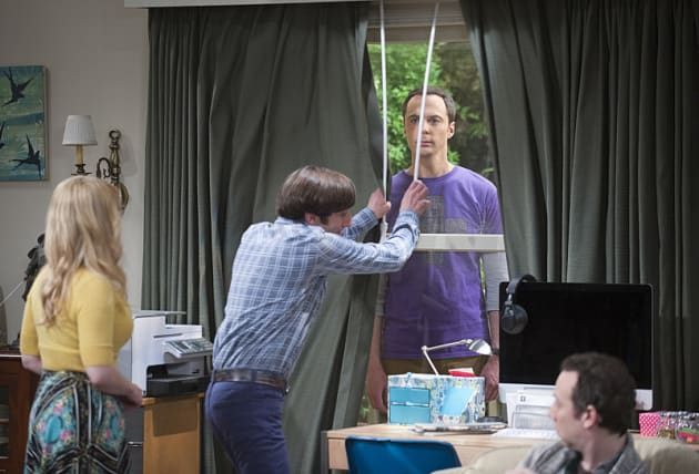 Sheldon Copes in Unique Ways - The Big Bang Theory Season 9 Episode 1