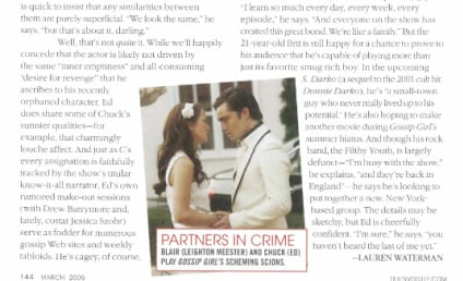 Ed Westwick Featured in Teen Vogue