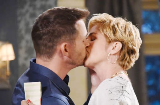 Brady Kisses Eve - Days of Our Lives