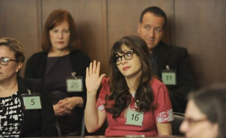 Jess As a Juror - New Girl