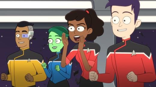 Cheering Him On - Star Trek: Lower Decks Season 1 Episode 6