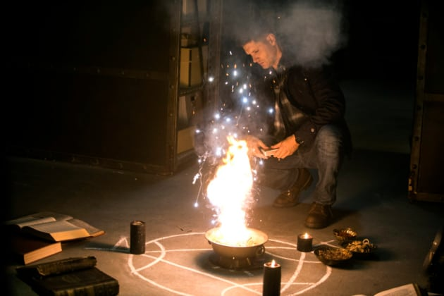 Dean Casting a Spell