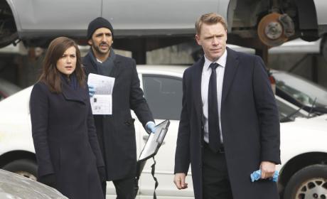 Liz, Ressler and Aram on the Scene
