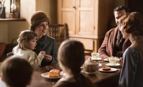 Edith on Downton Abbey Season 5