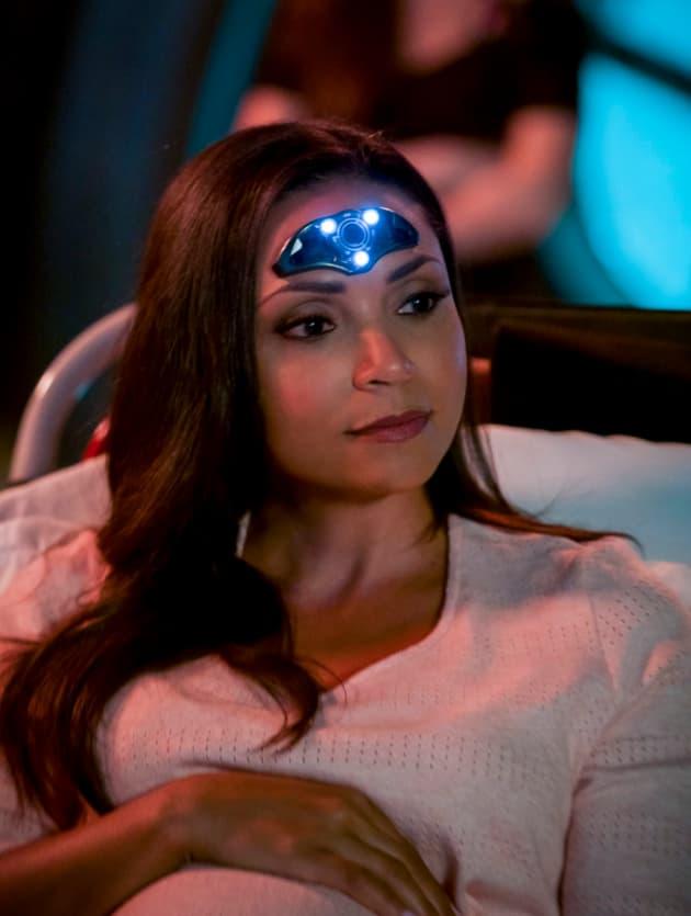 Pregnant Cecille - The Flash Season 4 Episode 23