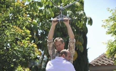 Ziplining on Cougar Town