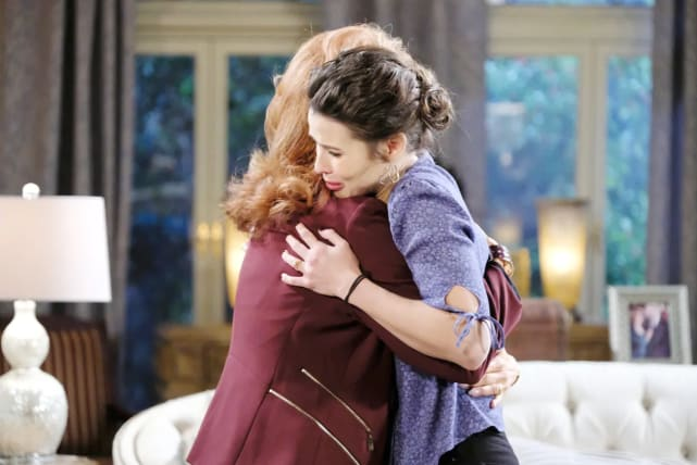 Sarah comforts Maggie after a moment of weakness.