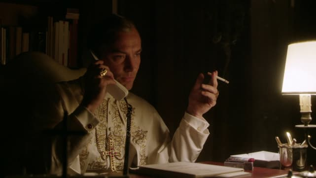 Smoking pope the young pope season 1 episode 9