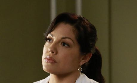 Callie Looks Thoughtful - Grey's Anatomy Season 12 Episode 10