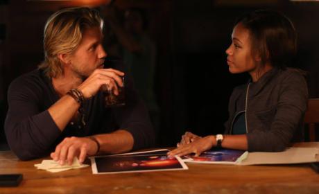Hawley Flirts with Abbie - Sleepy Hollow Season 2 Episode 8